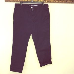🌿GAP Girlfriend Navy Khaki Pant